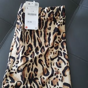Zara Animal Print Leggings